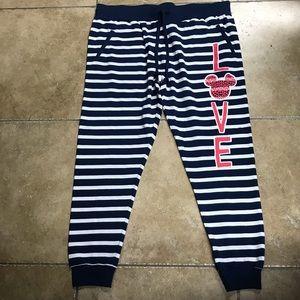 NWOT Disney Mickey Mouse Striped Drawstring Pants